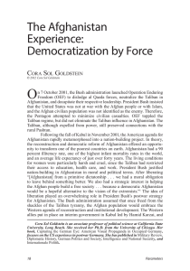 The Afghanistan Experience: Democratization by Force