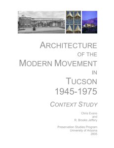 ARCHITECTURE MODERN MOVEMENT TUCSON