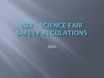 ISEF Safety Regulations 2016 - Bartlesville District Science Fair