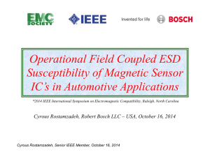 Operational Field Coupled ESD Susceptibility of Magnetic Sensor