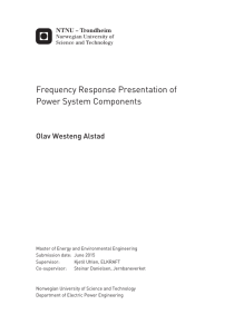 Frequency Response Presentation of Power System Components