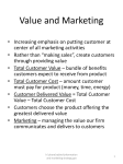 Value and Marketing