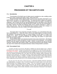 CHAPTER 4 PRECESSION OF THE EARTH`S AXIS
