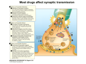 Fig 4.9a Synaptic Transmission