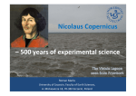 Nicolaus Copernicus – 500 years of experimental science