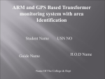 ARM and GPS Based Transformer monitoring system