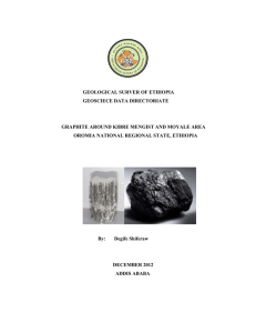 Graphite - Geological Survey of Ethiopia
