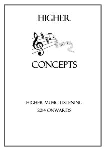 Higher Concepts Higher Music Listening 2014 Onwards Music