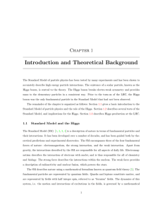 Introduction and Theoretical Background