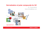 Derivatization of polar compounds for GC - Sigma