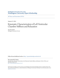 Kinematic Characterization of Left Ventricular Chamber Stiffness