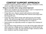 Things to consider when using context Approach