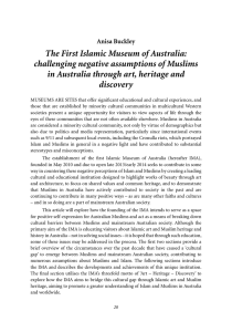 The First Islamic Museum of Australia: challenging negative