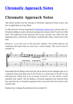 Chromatic Approach Notes