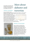 More about alabaster and travertine