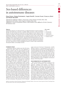 Sex-based differences in autoimmune diseases