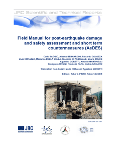 Field Manual for post-earthquake damage and safety assessment