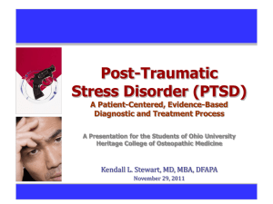 What are the diagnostic criteria for PTSD?