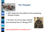 Pax Mongolica - Mr. Sarmiento`s Global History Class