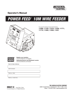 POWER FEED® 10M WIRE FEEDER