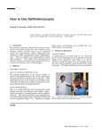 How to Use Ophthalmoscopes
