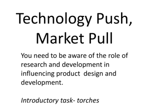 Technology Push, Market Pull