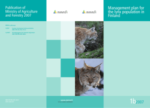 Management plan for the lynx population in Finland