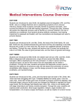 Medical Interventions Course Overview