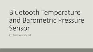 Bluetooth Temperature and Barometric Pressure Sensor