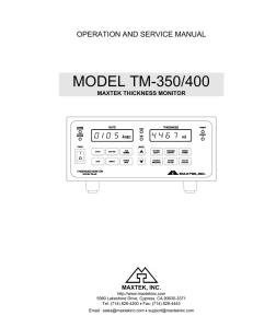 tm-350/400 operation and service manual