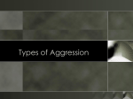 What is the goal of aggression?