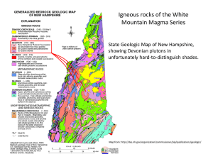 Igneous rocks of the White Mountain Magma Series