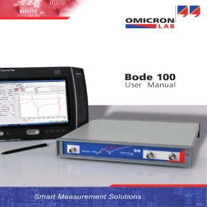 BOde 100 User Manual