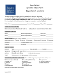 New Patient Specialty Intake Form