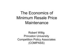 The Economics of Minimum Resale Price Maintenance