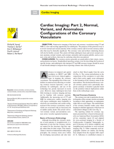 Cardiac Imaging: Part 2, Normal, Variant, and Anomalous