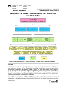 pathways of effects for finfish and shellfish aquaculture