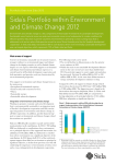 Sida`s Portfolio within Environment and Climate Change 2012