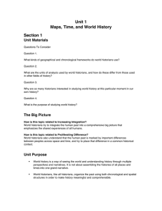 Unit 1 Maps, Time, and World History Section 1