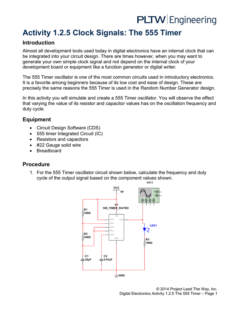 125a Analog And Digital Signals Function Timer Circuits Lm555 The Following Are