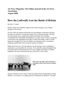 How the Luftwaffe Lost the Battle of Britain