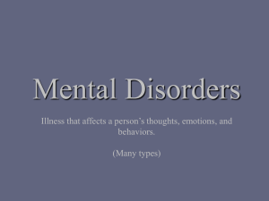Mental Disorders and Addictive Behavior