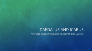 Daedalus and icarus - Your Awesome English Class!