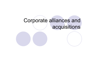 joint venture two or more companies agree to collaborate and jointly