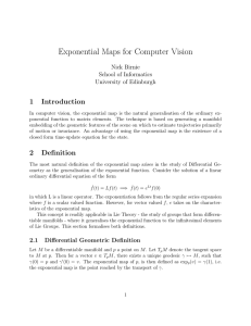 Exponential Maps for Computer Vision