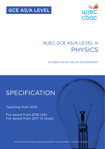 GCE Physics Specification
