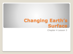 Changing Earth*s Surface