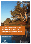 Managing the high ecological Value aquatic ecosysteMs