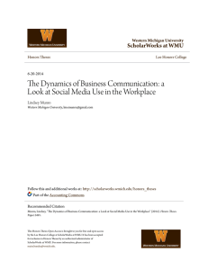 The Dynamics of Business Communication: a Look at Social Media
