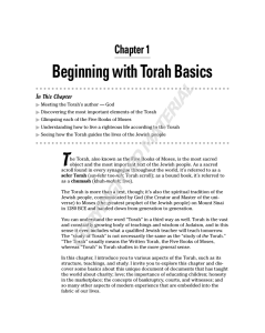 Beginning with Torah Basics